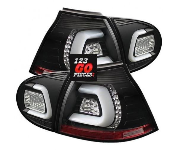 paire de feux arri res led bar cristal noir pour golf v 2003 2008 299 90 pi ces design pi ces. Black Bedroom Furniture Sets. Home Design Ideas
